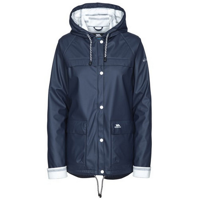 Navy - Back - Trespass Womens-Ladies Muddle Waterproof Jacket