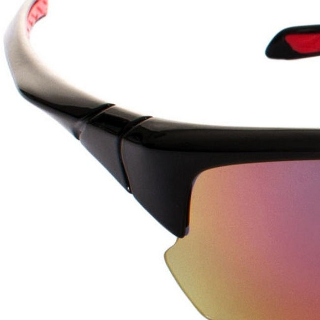 Black - Back - Trespass Adults Unisex Falconpro Red Mirror Sunglasses