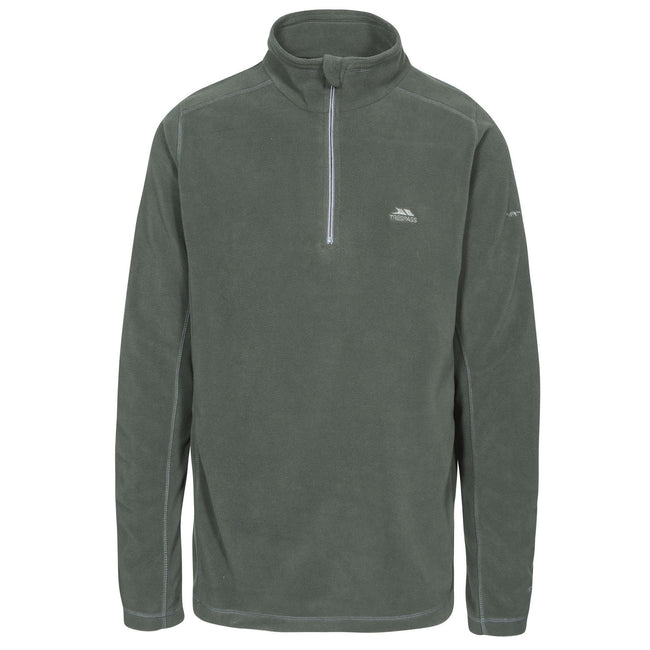 Olive - Front - Trespass Mens Maringa Fleece Top