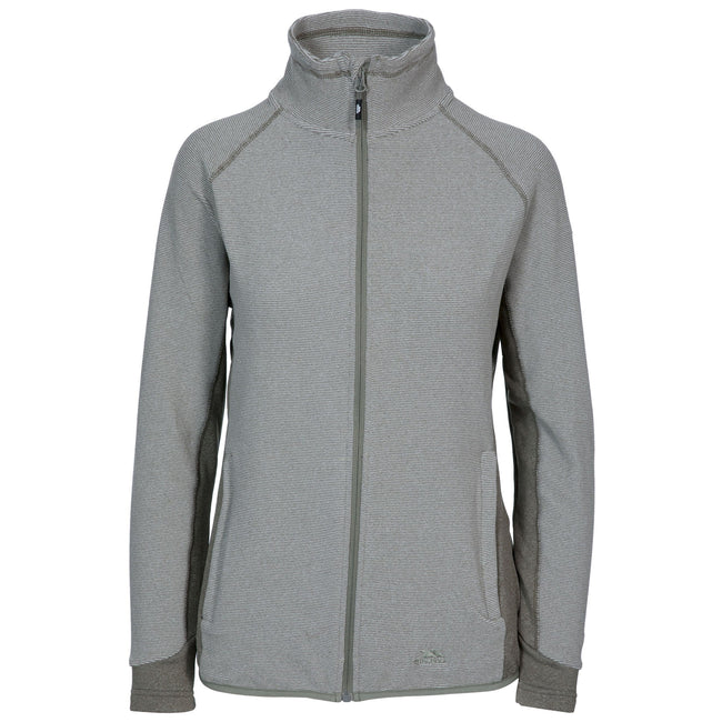 Platinum - Front - Trespass Womens-Ladies Detour Full Zip Fleece