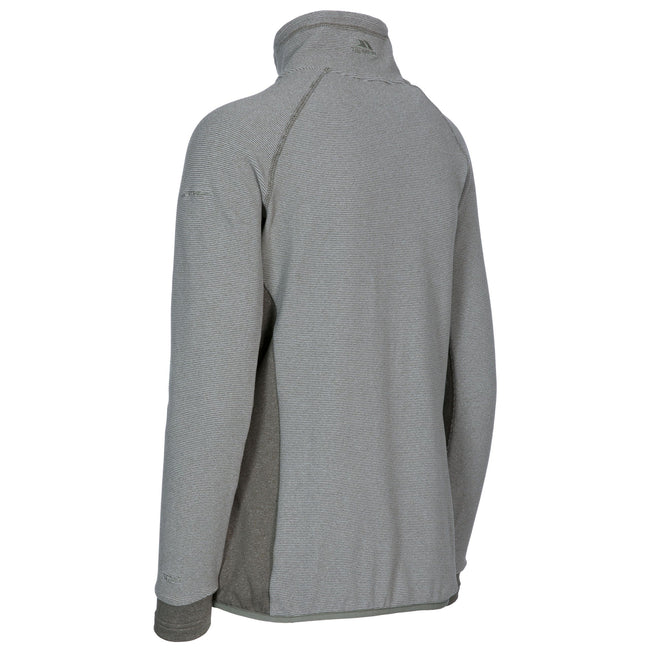 Platinum Stripe - Front - Trespass Womens-Ladies Detour Full Zip Fleece
