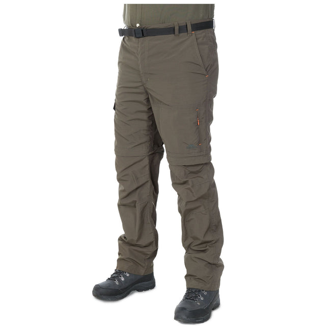Bamboo - Front - Trespass Mens Rynne Moskitophobia Hiking Trousers
