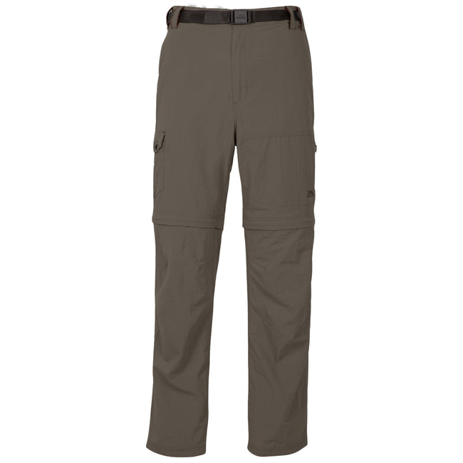 Carbon - Front - Trespass Mens Rynne Moskitophobia Hiking Trousers