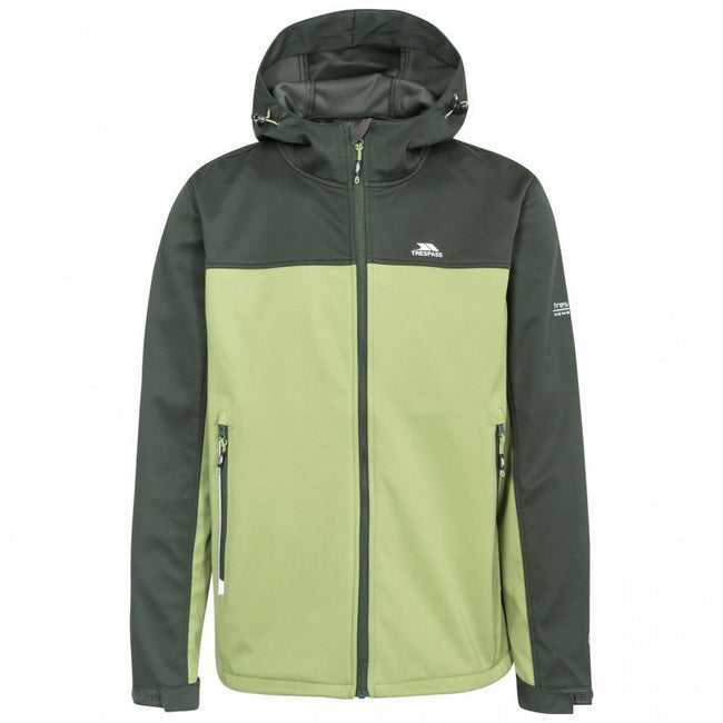 Olive - Front - Trespass Mens Palin Waterproof Softshell Jacket
