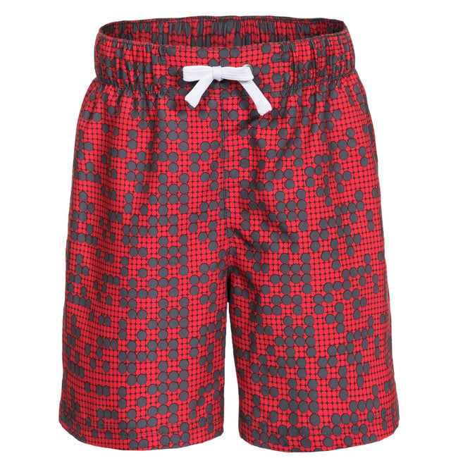 Red - Front - Trespass Childrens Boys Hitter Swimming Shorts