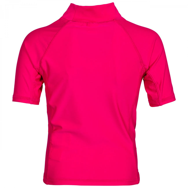 Pink Lady - Back - Trespass Childrens-Kids Crew Rash Guard Top