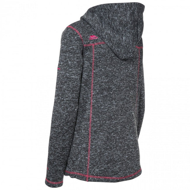 Black Marl - Back - Trespass Womens-Ladies Odelia Fleece Jacket