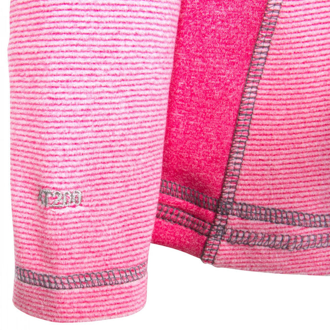 Pink Lady Stripe - Back - Trespass Childrens-Kids Bunker Fleece Jacket