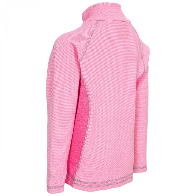 Pink Lady Stripe - Lifestyle - Trespass Childrens-Kids Bunker Fleece Jacket