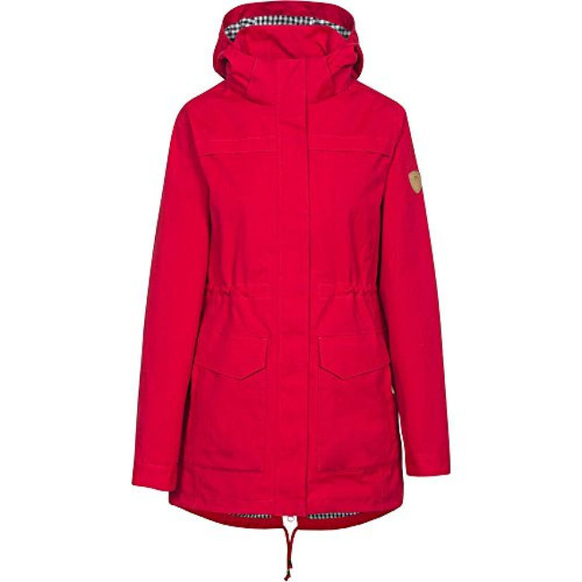 Red - Front - Trespass Womens-Ladies Amanita Hooded Waterproof Rain Jacket