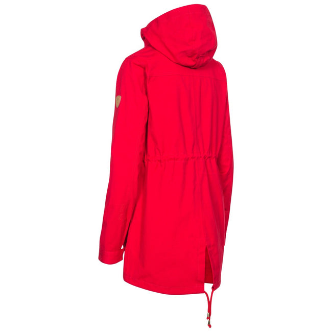 Red - Back - Trespass Womens-Ladies Amanita Hooded Waterproof Rain Jacket