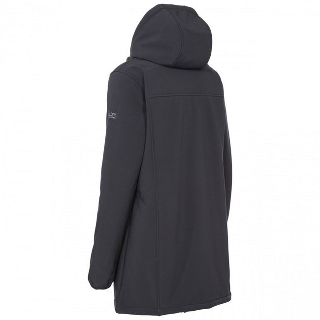 Black - Lifestyle - Trespass Womens-Ladies Kristen Longer Length Hooded Waterproof Jacket
