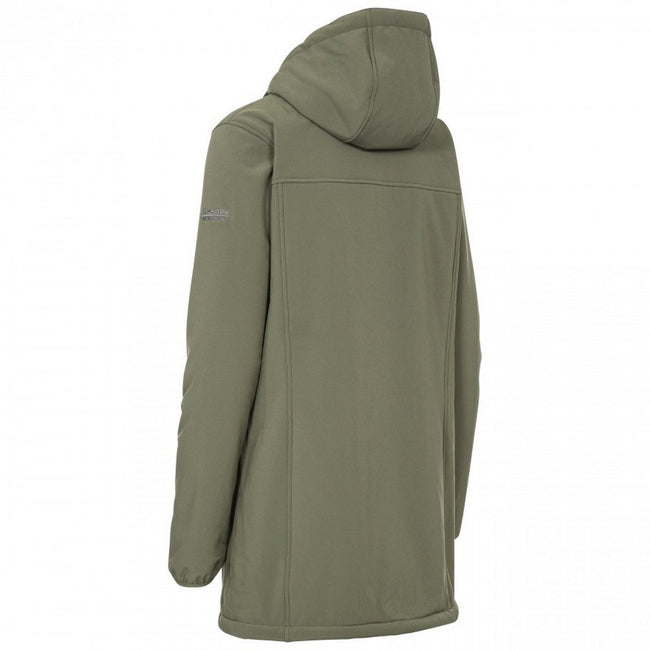 Moss - Back - Trespass Womens-Ladies Kristen Longer Length Hooded Waterproof Jacket