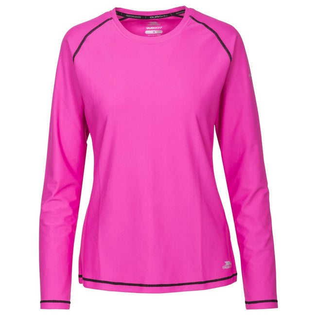 Pink Glow - Front - Trespass Womens-Ladies Hasting Long Sleeved Top