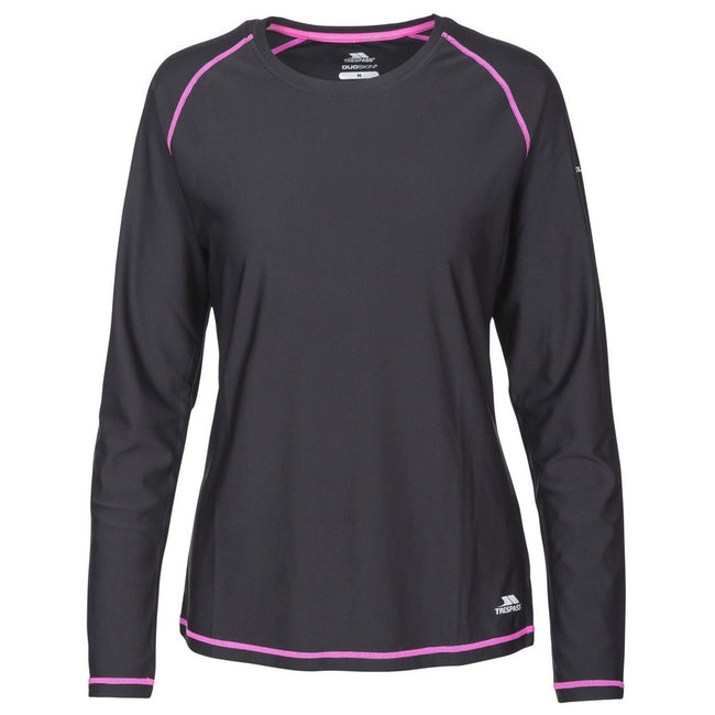 Black - Front - Trespass Womens-Ladies Hasting Long Sleeved Top