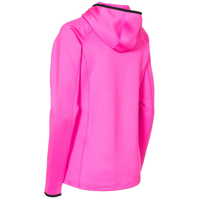 Pink Glow - Back - Trespass Womens-Ladies Lalita Fleece Hoody