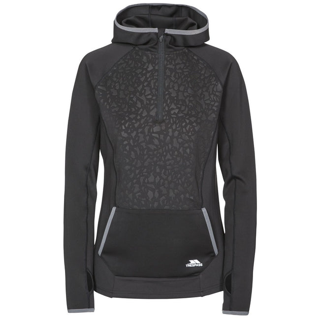 Black - Front - Trespass Womens-Ladies Lalita Fleece Hoody