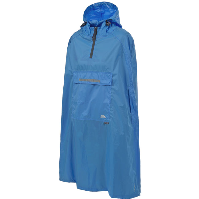 Cobalt - Front - Trespass Qikpac Unisex Hooded Waterproof Packaway Poncho