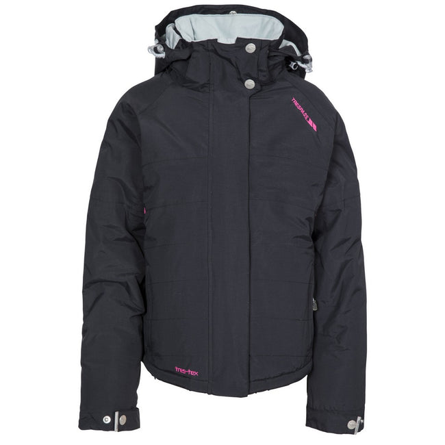 Black - Front - Trespass Childrens Girls Auden Jacket