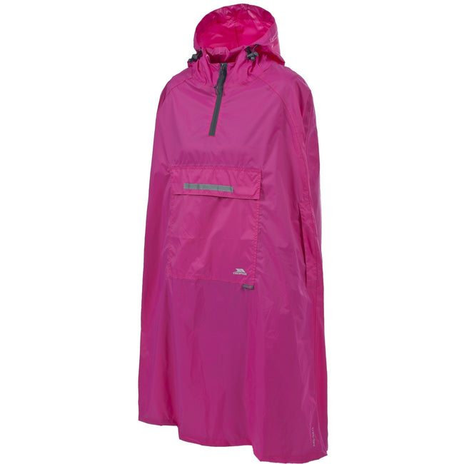 Sasparilla - Front - Trespass Qikpac Unisex Hooded Waterproof Packaway Poncho