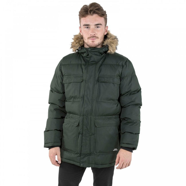 Merlot - Front - Trespass Mens Baldwin Padded Waterproof Jacket