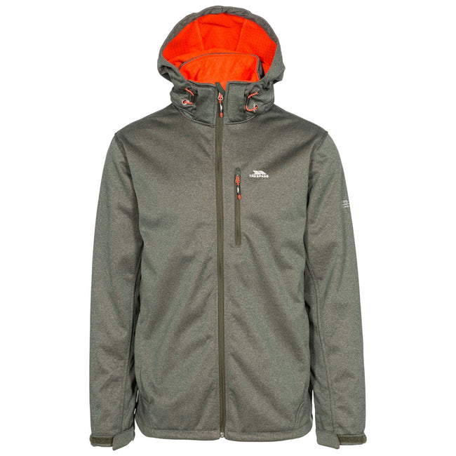 Olive Marl - Front - Trespass Mens Maynard TP75 Softshell Jacket