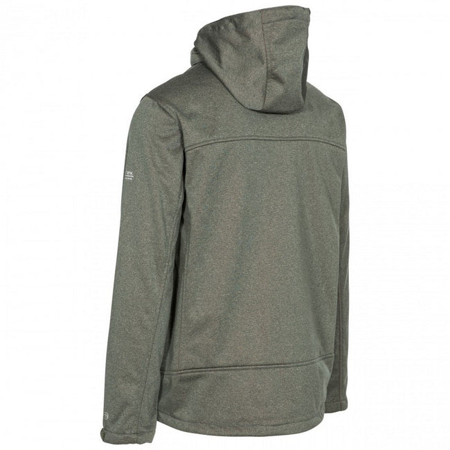 Olive Marl - Back - Trespass Mens Maynard TP75 Softshell Jacket