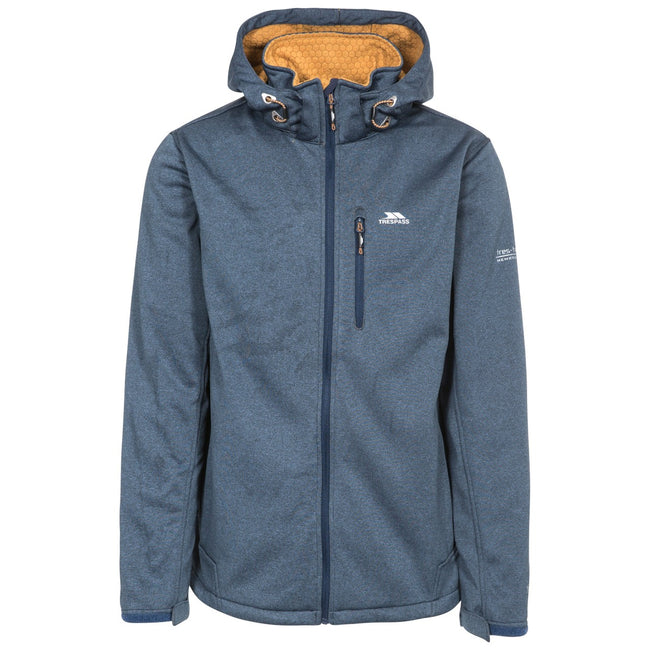 Navy Marl - Front - Trespass Mens Maynard TP75 Softshell Jacket