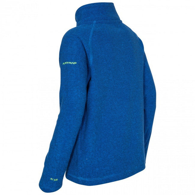 Blue - Back - Trespass Childrens-Kids Keynote Fleece