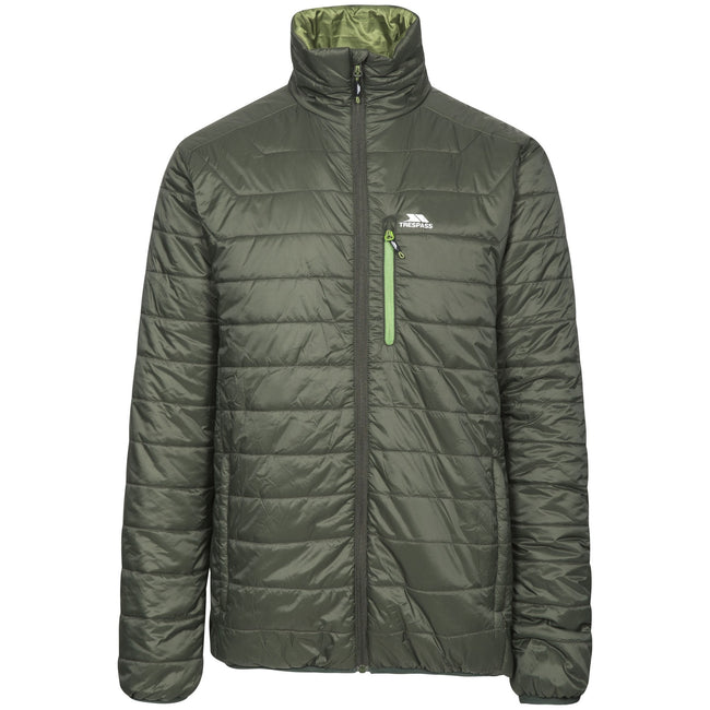 Olive - Front - Trespass Mens Norman Padded Jacket