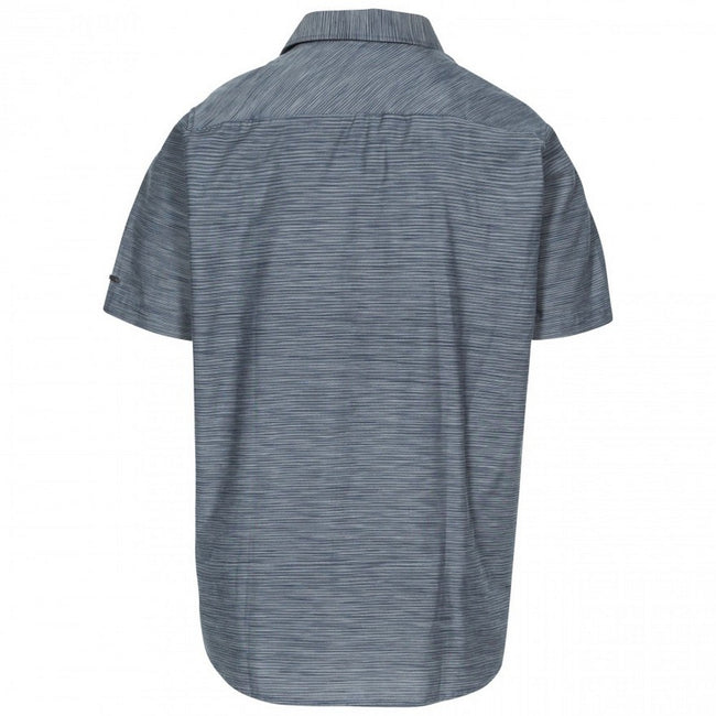 Carbon Marl - Back - Trespass Mens Matadi Short Sleeve Shirt