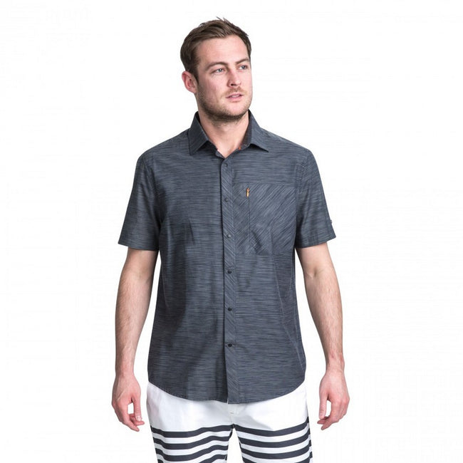 Carbon Marl - Side - Trespass Mens Matadi Short Sleeve Shirt