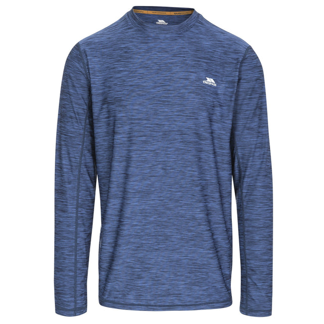 Navy Marl - Front - Trespass Mens Wentworth Active Top