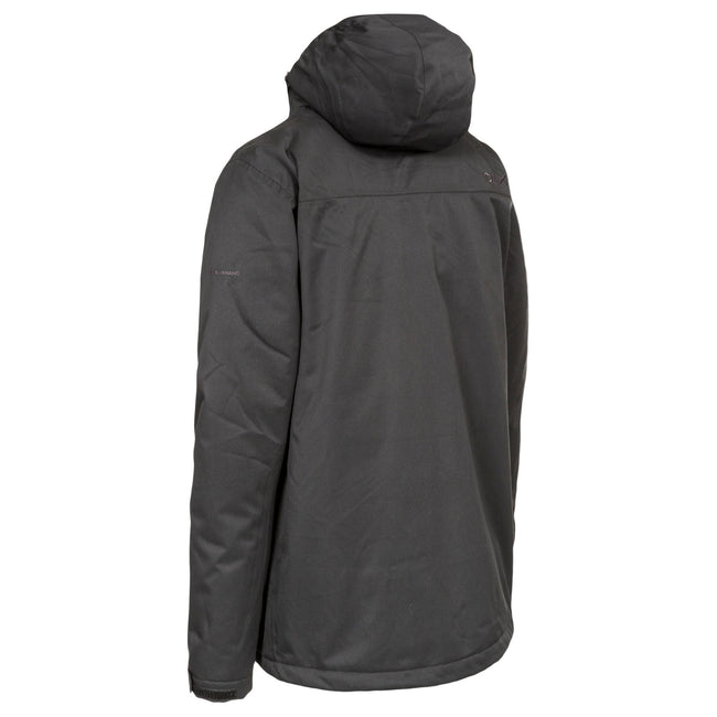 Black - Back - Trespass Mens Renner Waterproof Jacket