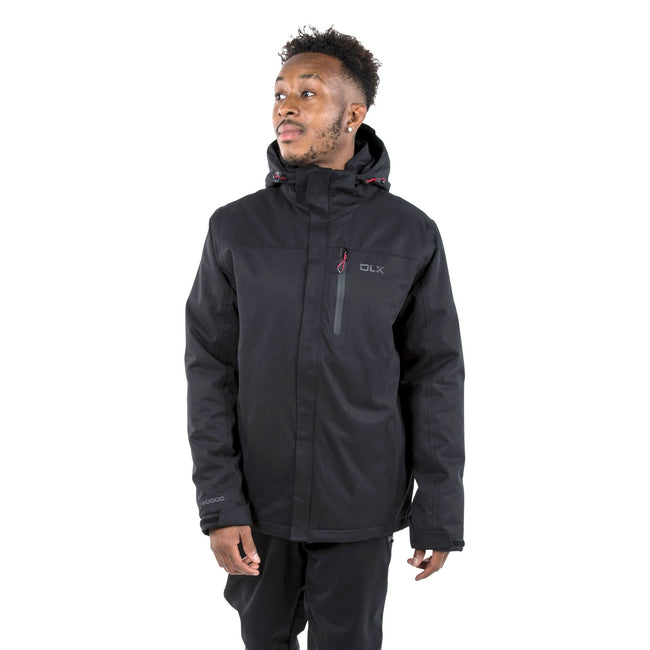 Black - Side - Trespass Mens Renner Waterproof Jacket