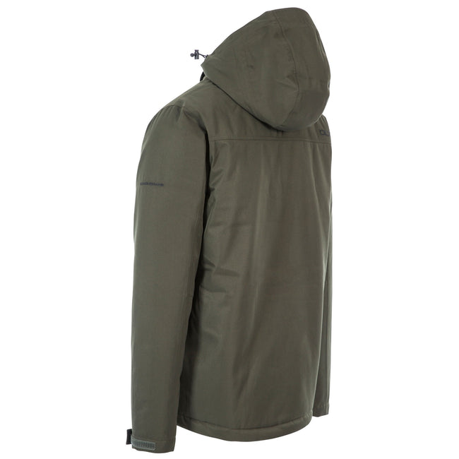Olive - Back - Trespass Mens Renner Waterproof Jacket