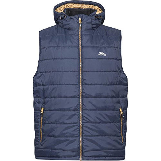 Gray - Front - Trespass Mens Franklyn Padded Gilet