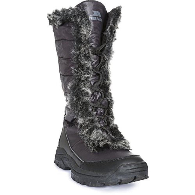 Black - Front - Trespass Womens-Ladies Coretta Snowboots