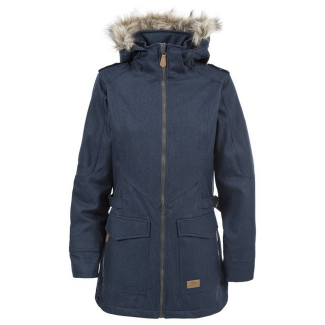 Navy - Front - Trespass Womens-Ladies Everyday Waterproof Jacket