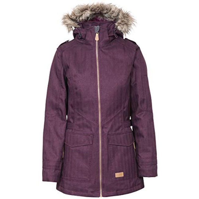 Potent Purple - Front - Trespass Womens-Ladies Everyday Waterproof Jacket