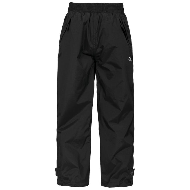 Black - Front - Trespass Childrens-Kids Echo Waterproof Pants-Trousers