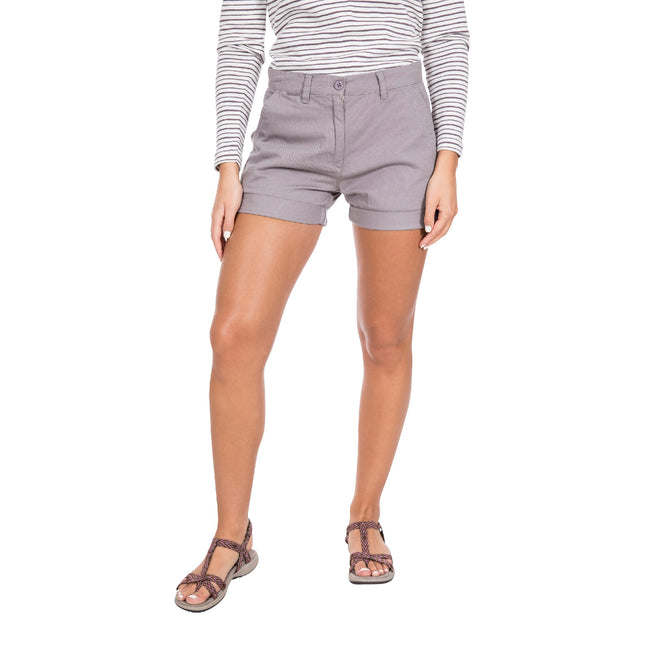 Storm Gray - Side - Trespass Womens-Ladies Rectify Adventure Shorts