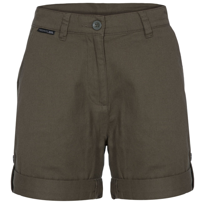 Moss - Front - Trespass Womens-Ladies Rectify Adventure Shorts