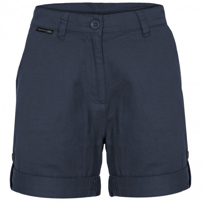 Navy - Front - Trespass Womens-Ladies Rectify Adventure Shorts