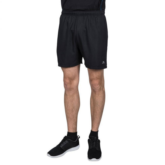 Black-Black - Side - Trespass Mens Shane Sport Shorts