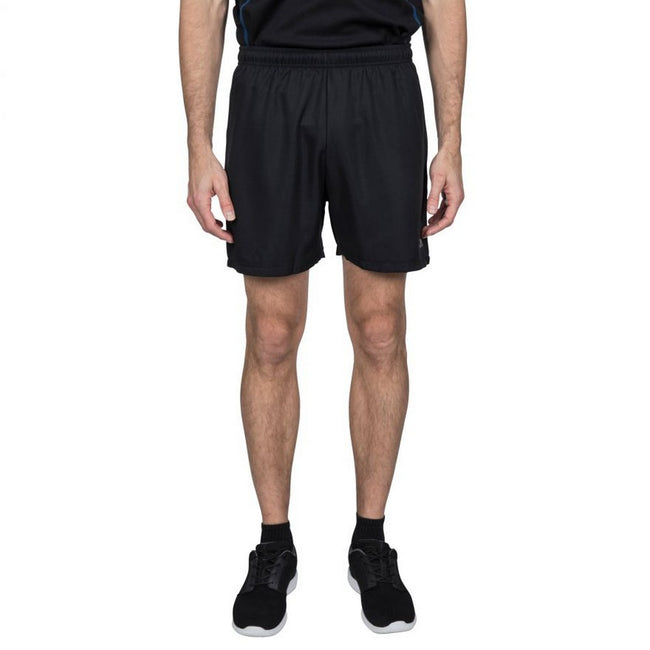 Black-Black - Front - Trespass Mens Shane Sport Shorts