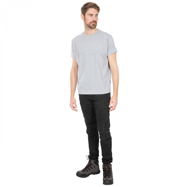Gray Marl - Side - Trespass Plaintee Mens Quick Dry T Shirt