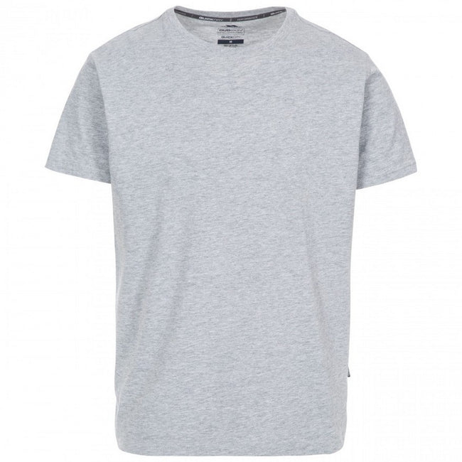 Gray Marl - Front - Trespass Plaintee Mens Quick Dry T Shirt