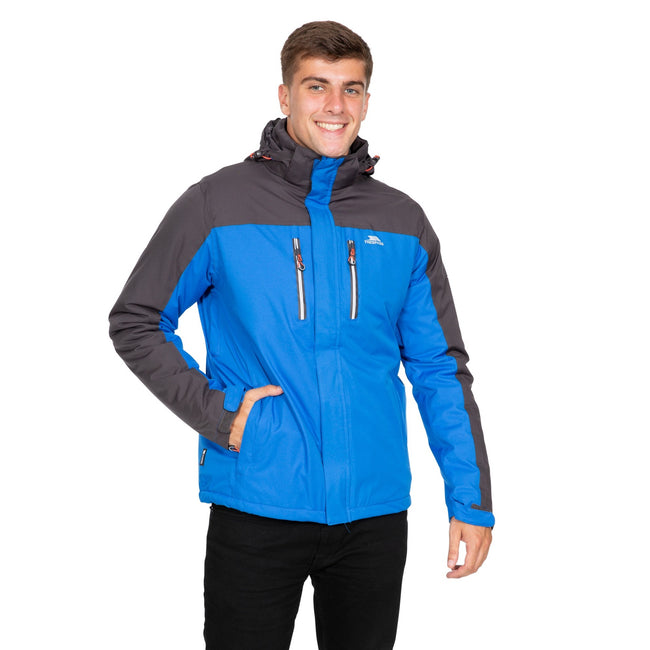 Blue - Side - Trespass Mens Tolsford Waterproof Jacket