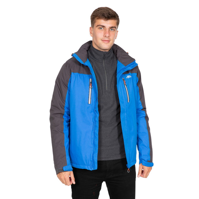 Blue - Lifestyle - Trespass Mens Tolsford Waterproof Jacket